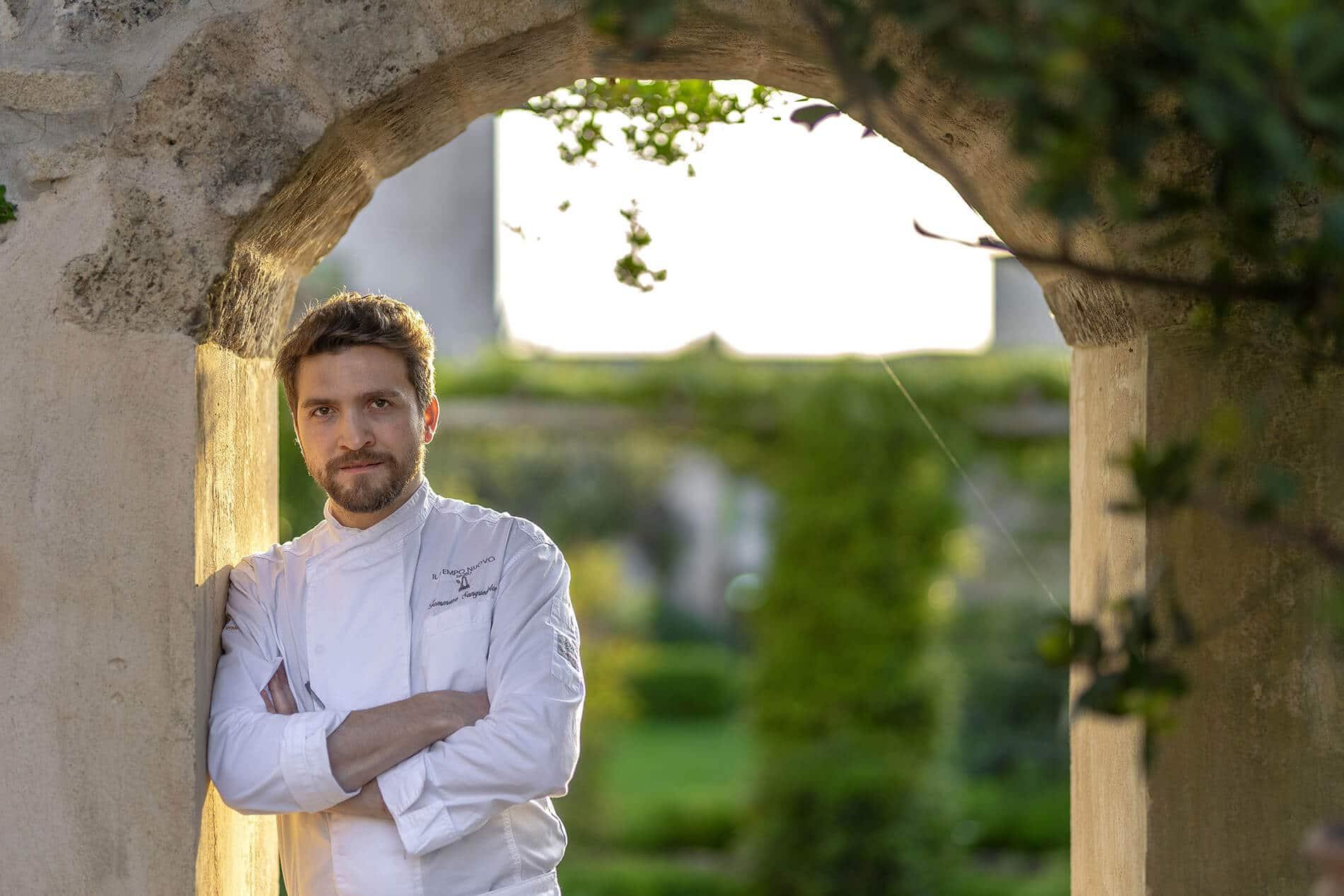 Chef Tommaso Sanguedolce cuisine at Castello di Ugento in Puglia
